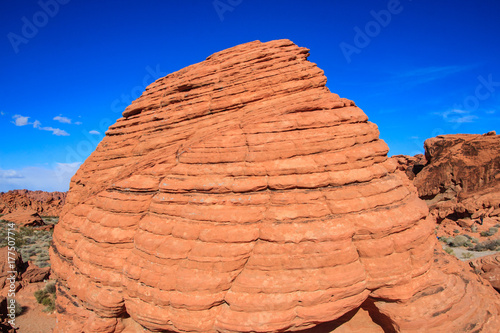 Fotobehang Koraal Beehive Rocks in Valley of Fire, Nevada