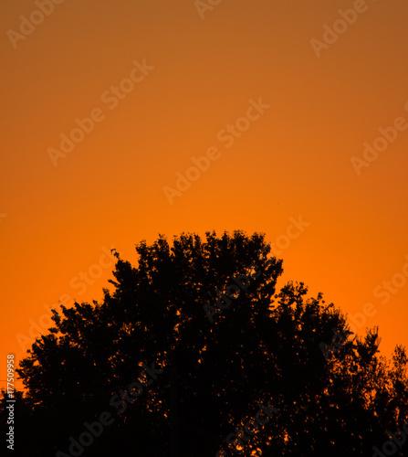 In de dag Oranje eclat Sunset over Ezerets, Black sea, Bulgaria