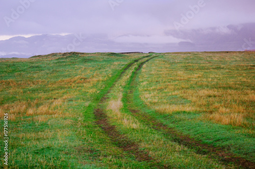 Aluminium Purper road in field