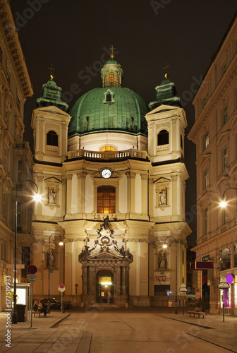 Church of St. Peter in Vienna. Austria Poster