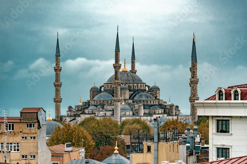 Sultan Ahmed Mosque. Istanbul. Turkey Poster