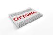 Ottawa on Newspaper background
