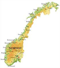 Norway Relief map © bogdanserban