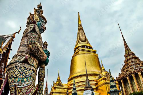 Giant in Wat Phra Kaeo, The Royal Grand Palace - Bangkok, Thailand Poster