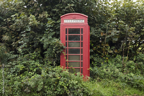 English Phone Booth Countryside 2 Poster