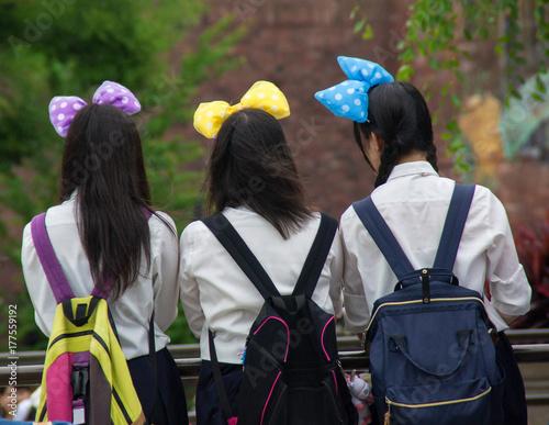 Aluminium Amusementspark 遊園地 女子中学生
