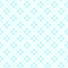 Cyan pastel diamond pattern. Seamless vector background © Olga