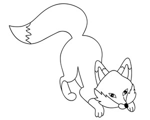 Vector Cute Cartoon Fox
