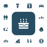 Set Of 13 Editable Folks Icons. Includes Symbols Such As Patisserie, Girl, Canape And More. Can Be Used For Web, Mobile, UI And Infographic Design. - 177573550