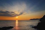 Italy, Riomaggiore scenic sunsets