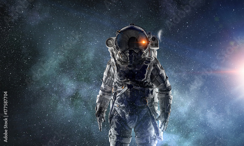 Adventure of spaceman. Mixed media - 177587704