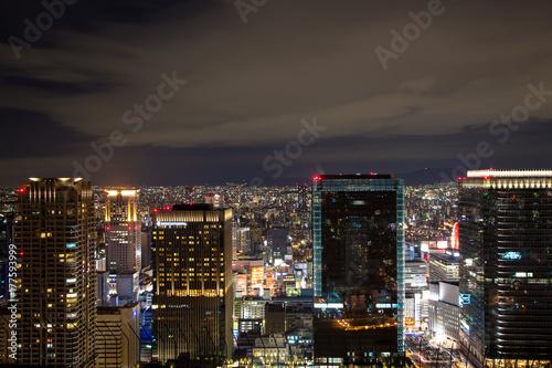 Osaka Night View Poster