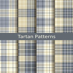 set of eight seamless vector tartan geometric square patterns. design for textile, covers, packaging, christmas © lenazol