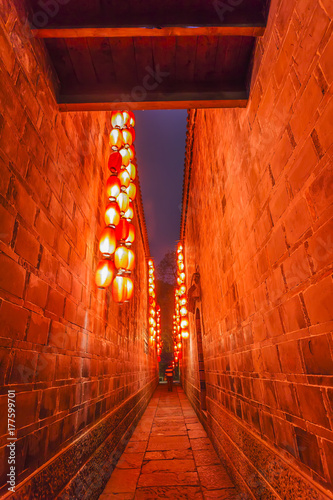 Papiers peints Brique Ancient town of Chengdu