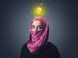 Muslim woman wearing niqab - 177605381