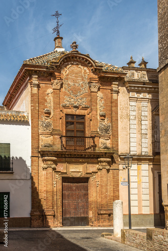 View at the facade of Aguilar palace in Carmona, Spain Poster