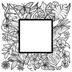 Tropical Square Frame