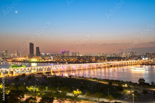 Fotobehang Seoel Cityscape of Seoul, Korea