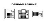 Drum-mashine icons