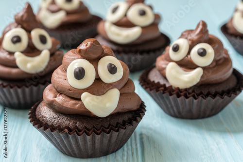 poop emoji cupcakes Poster