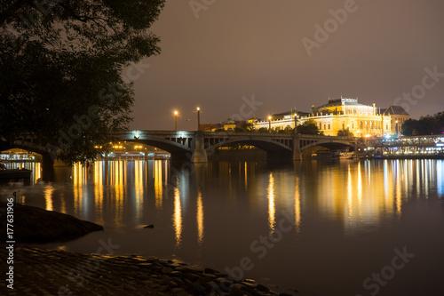 Manes bridge in Prague, Czech Republic Poster