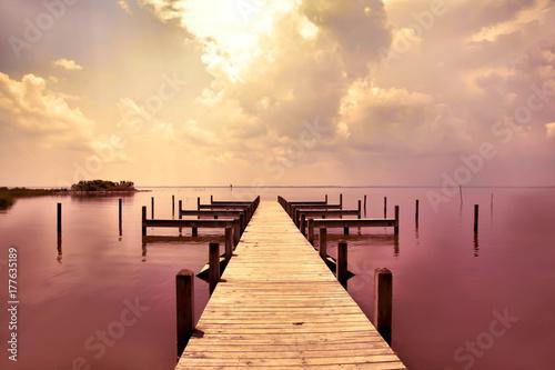 Fotobehang Pier Sunset Pier