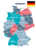 Germany - map and flag illustration - 177636904
