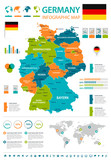 Germany - infographic map and flag - illustration - 177636922