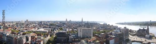 Fotobehang Antwerpen Antwerpen Belgien Skyline Panorama