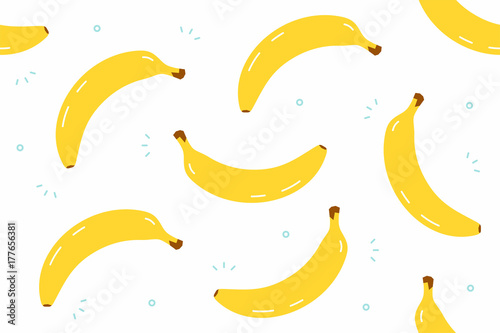Bananas seamless pattern. Vector illustration - 177656381