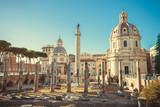 The Trajan's Forum in Rome, Italy. - 177671992