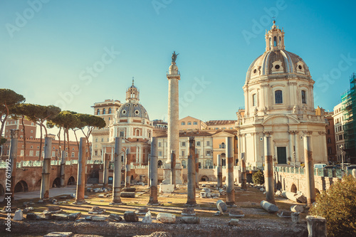 Foto op Plexiglas Rome The Trajan's Forum in Rome, Italy.