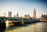 Big Ben and westminster bridge in London at autumn - 177672110