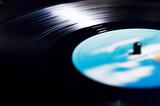 vinyl disc spinning on turntable - 177672733