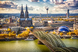 Aerial view of Cologne, Germany - 177673179