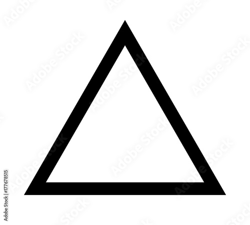 Fototapeta Triangle up arrow or pyramid line art vector icon for apps and websites
