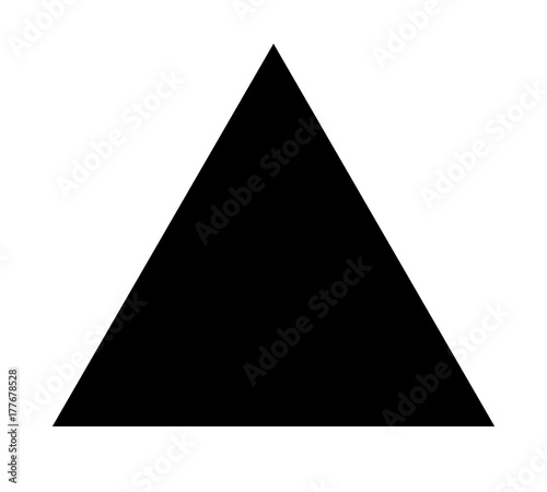 Fototapeta Triangle up arrow or pyramid flat vector icon for apps and websites