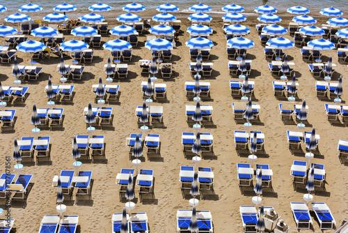 Juliste Mediterranean beach during hot summer day
