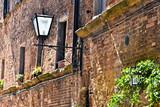 Street of historic center of Pienza in Tuscany, Italy