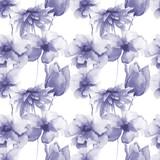 Seamless pattern with Original flowers