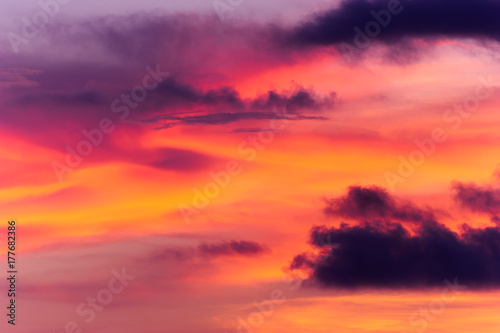 Papiers peints Corail Sunset Clouds