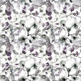 Seamless pattern with Blossoming tree brunch