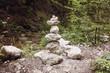 Zen stones in the wild nature