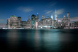 Tiefblaue Nacht in New York