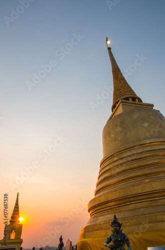 Golden mountain (Wat Saket), Bangkok, Thailand Poster