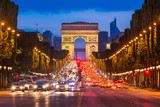 Champs Elysees and Arc de Triomphe, Paris © Mapics