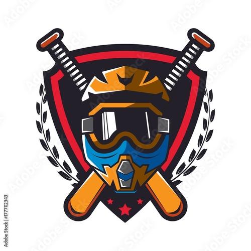 Motocross design badge