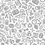 seamless pattern with education design elements - 177733591