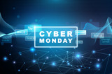 Cyber Monday - Blue Banner - 177735101
