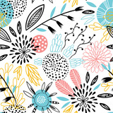 Seamless vector  floral pattern - 177737915